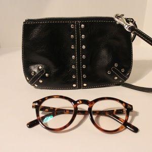 MICHAEL Michael Kors Black Leather Studded Wallet